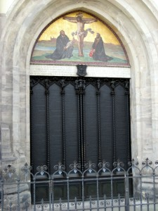 """Thesentür"" (the ""Door of the Theses"")"