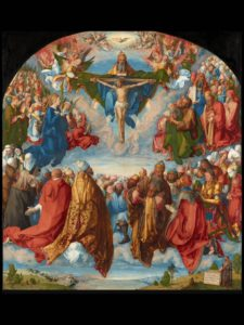 Pic Durer Adoration of the Holy Trinity